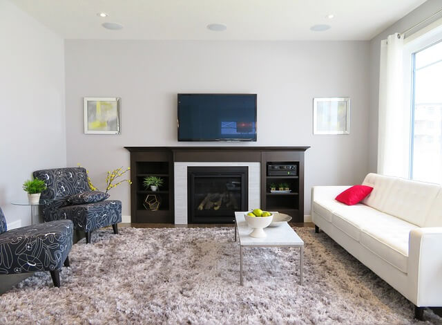 TV installation over a fireplace